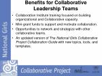 benefits for collaborative leadership teams