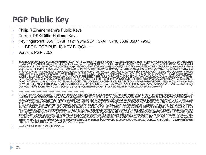 PGP Public Key