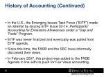 history of accounting continued