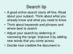 search tip3
