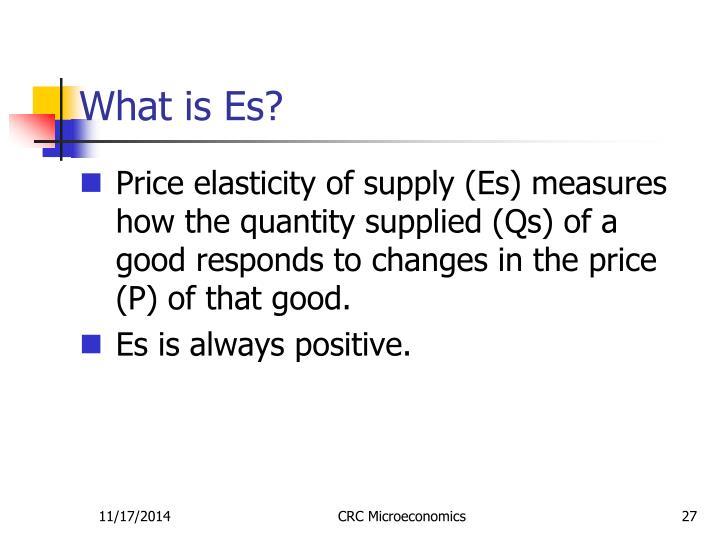 What is Es?