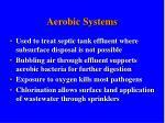 aerobic systems