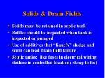 solids drain fields