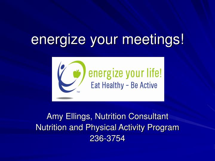 energize your meetings n.
