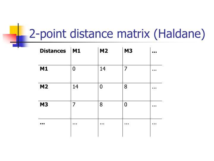 2-point distance matrix (Haldane)