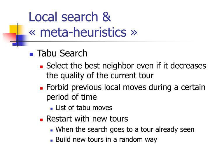 Local search &