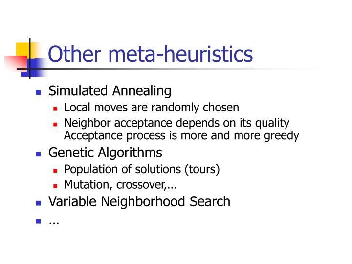 Other meta-heuristics
