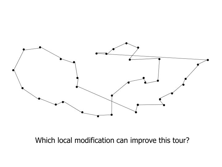 Which local modification can improve this tour?