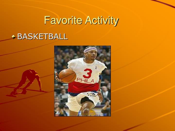 Favorite Activity