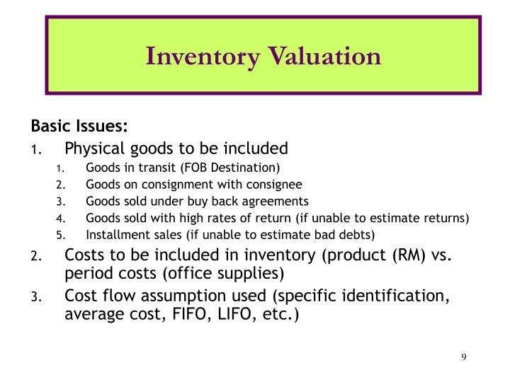 Inventory Valuation