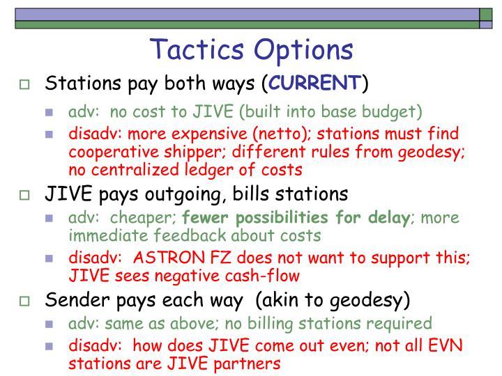 Tactics Options