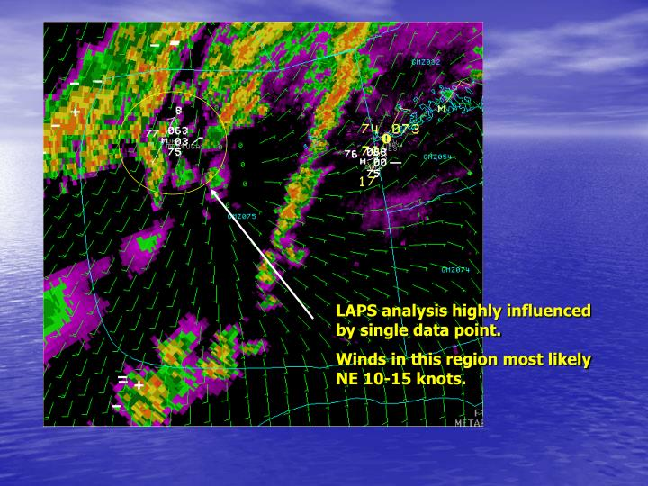 LAPS analysis highly influenced by single data point.