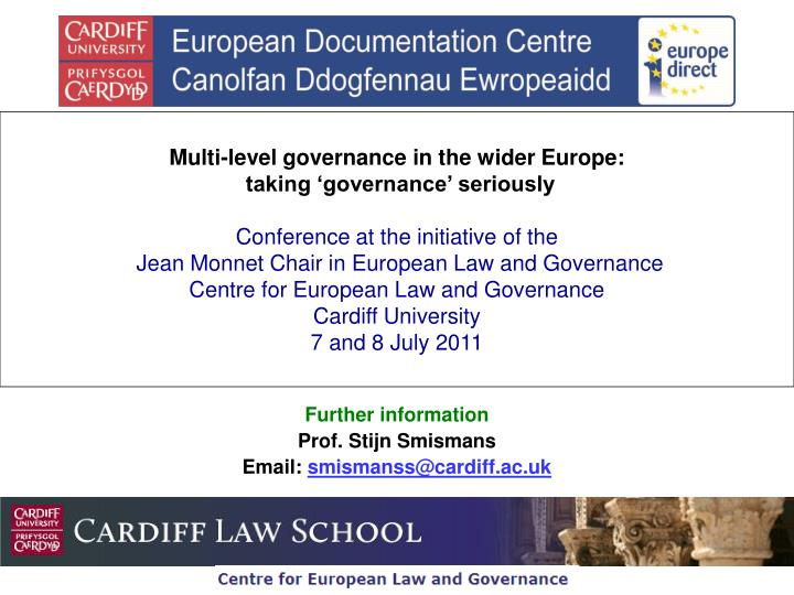 Multi-level governance in the wider Europe: