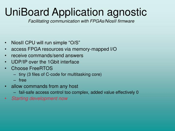 Uniboard application agnostic