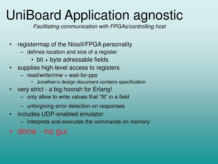 Uniboard application agnostic1