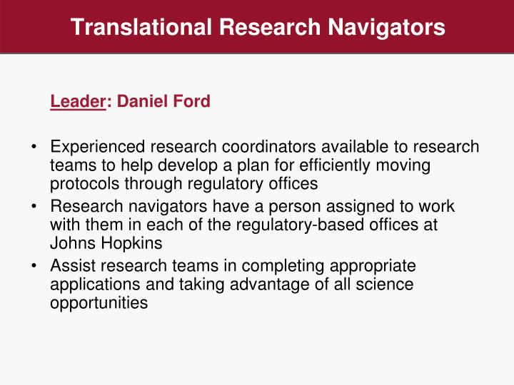 Translational Research Navigators