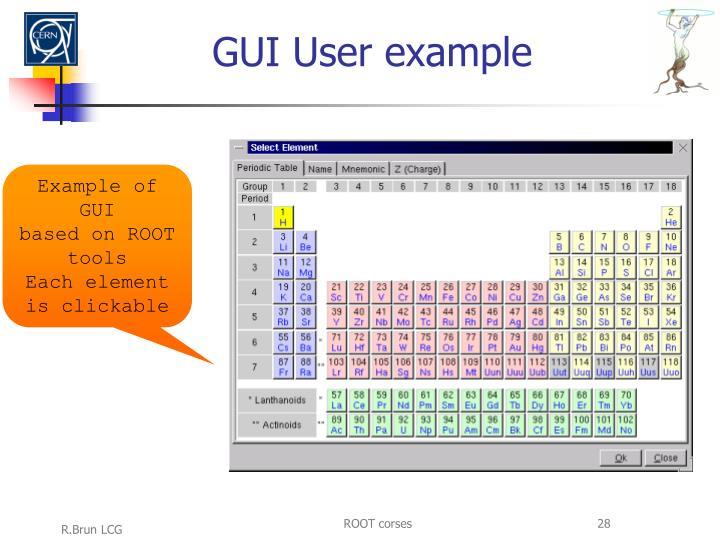 GUI User example