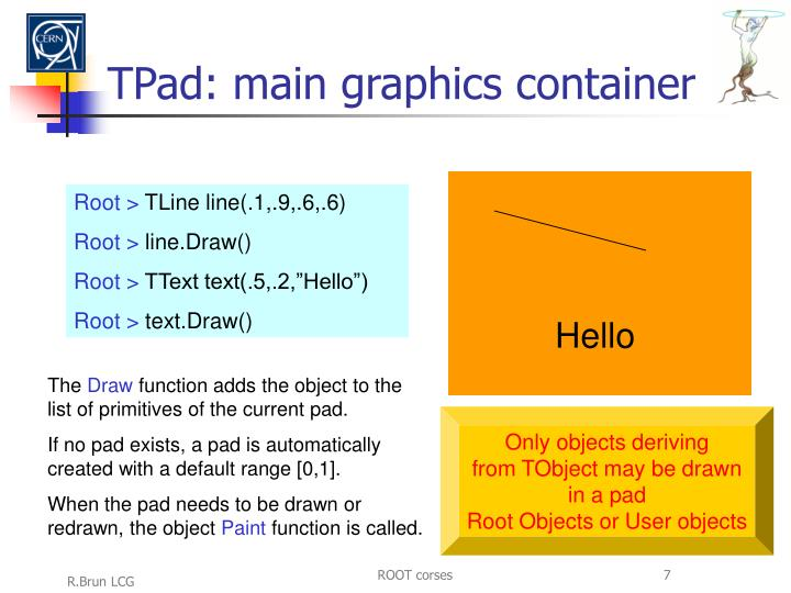TPad: main graphics container