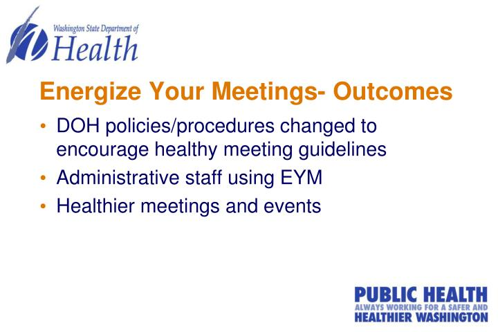 Energize Your Meetings- Outcomes