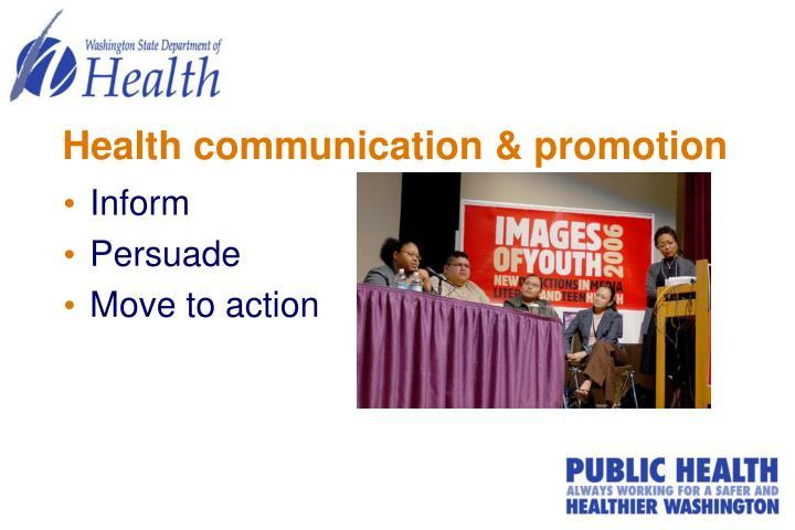 Health communication & promotion