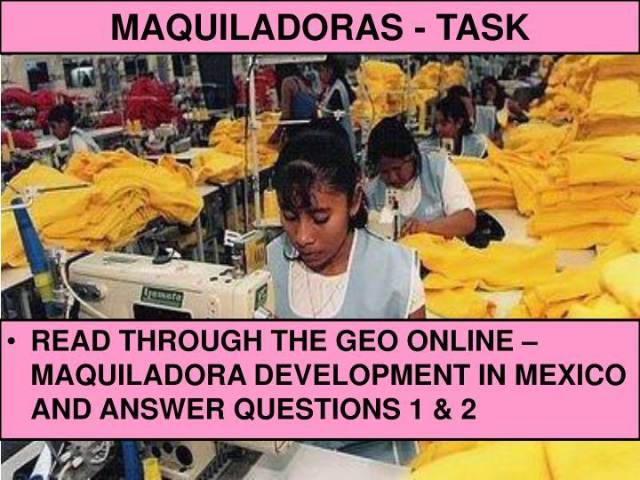 MAQUILADORAS - TASK