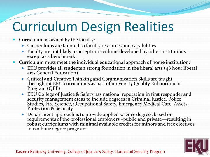 Curriculum Design Realities