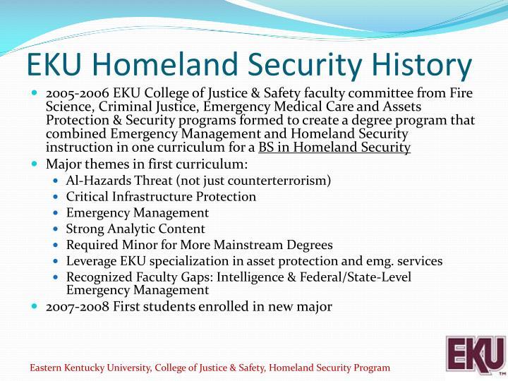 EKU Homeland Security History