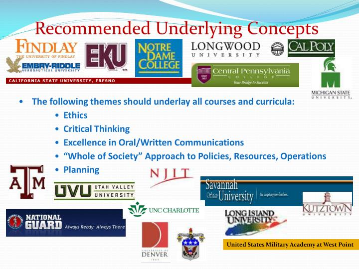 Recommended Underlying Concepts