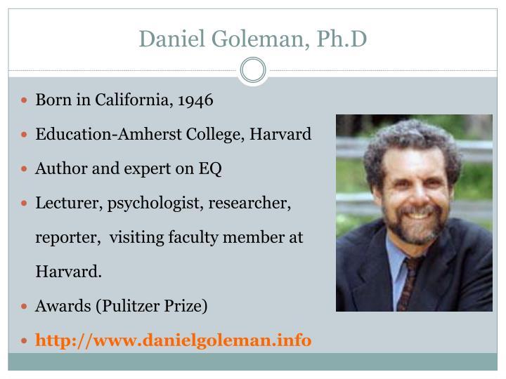 Daniel goleman ph d