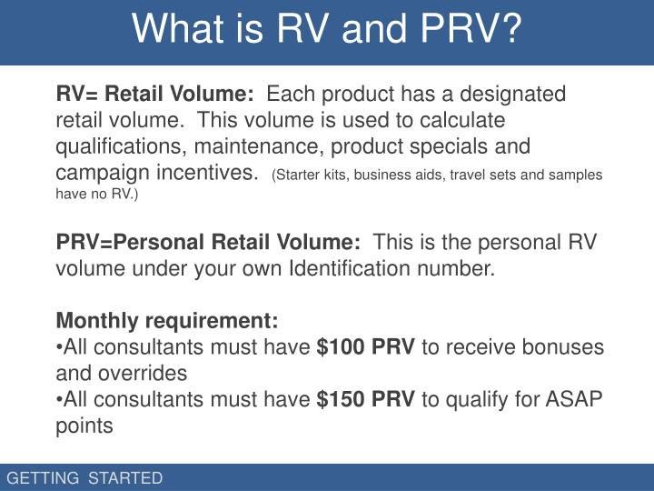 What is RV and PRV?
