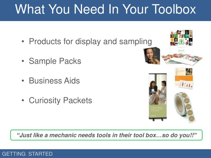 What You Need In Your Toolbox
