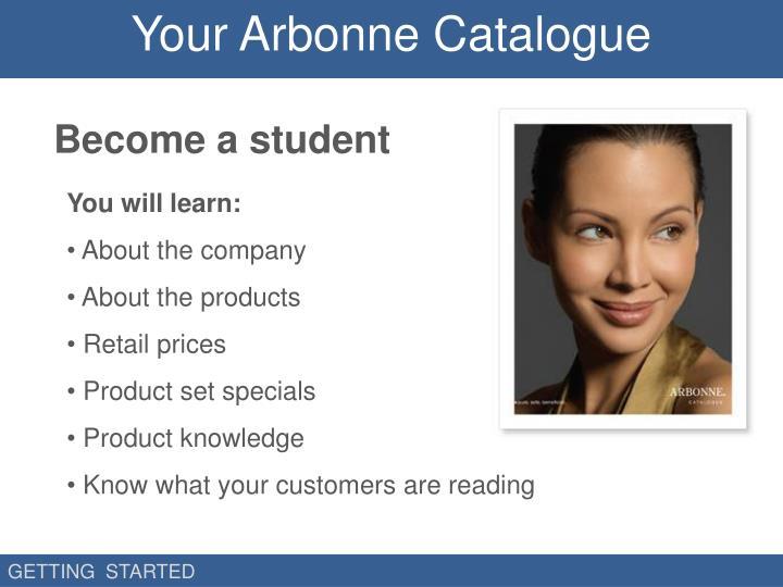 Your Arbonne Catalogue