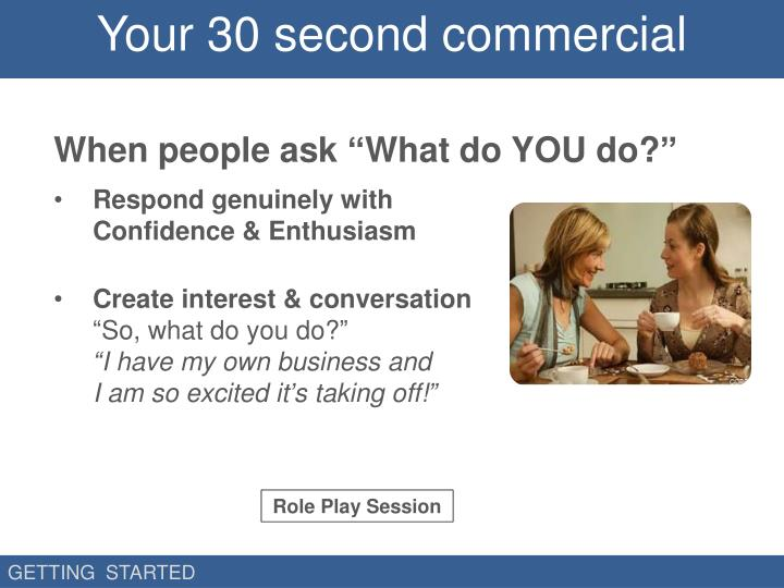 Your 30 second commercial