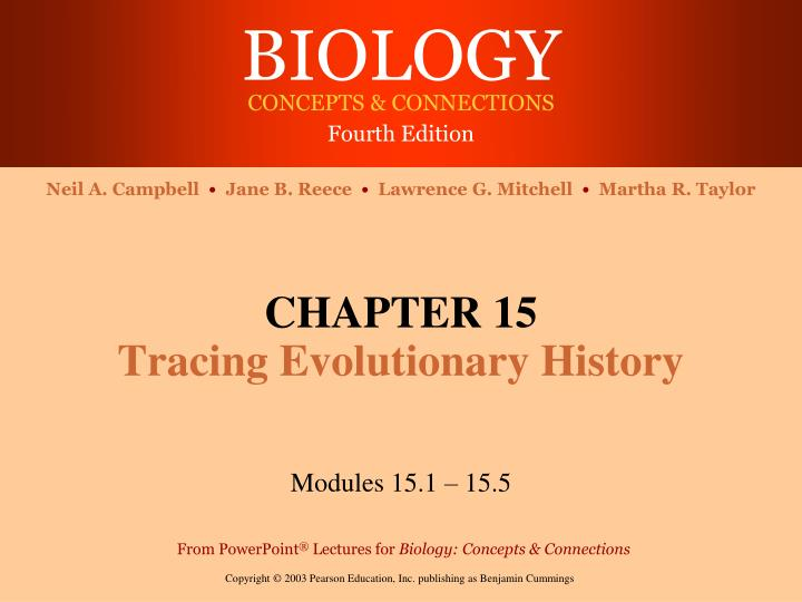 chapter 15 tracing evolutionary history n.