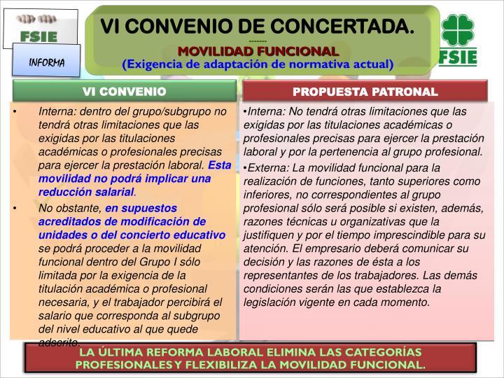 LA ÚLTIMA REFORMA LABORAL ELIMINA LAS CATEGORÍAS PROFESIONALES Y FLEXIBILIZA LA MOVILIDAD FUNCIONAL.