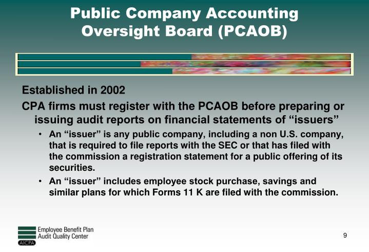 Public Company Accounting