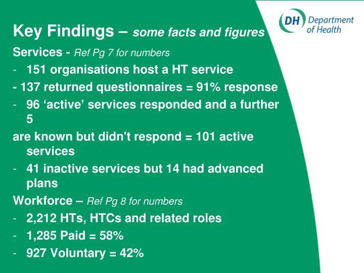 Key Findings –
