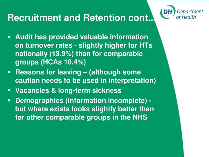 Recruitment and Retention cont....