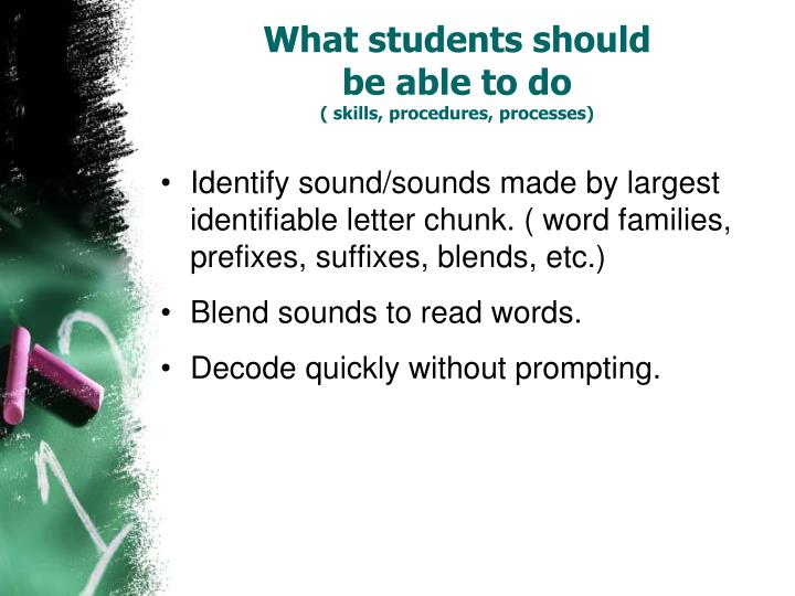 What students should