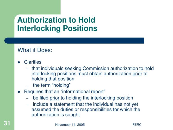 Authorization to Hold
