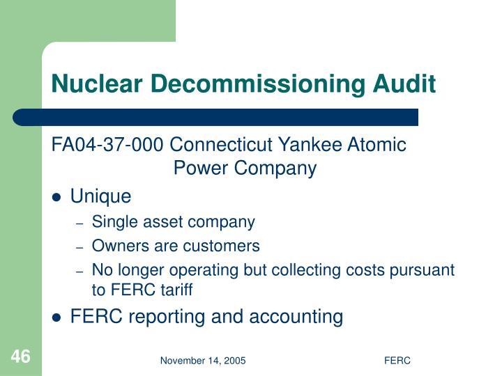 Nuclear Decommissioning Audit