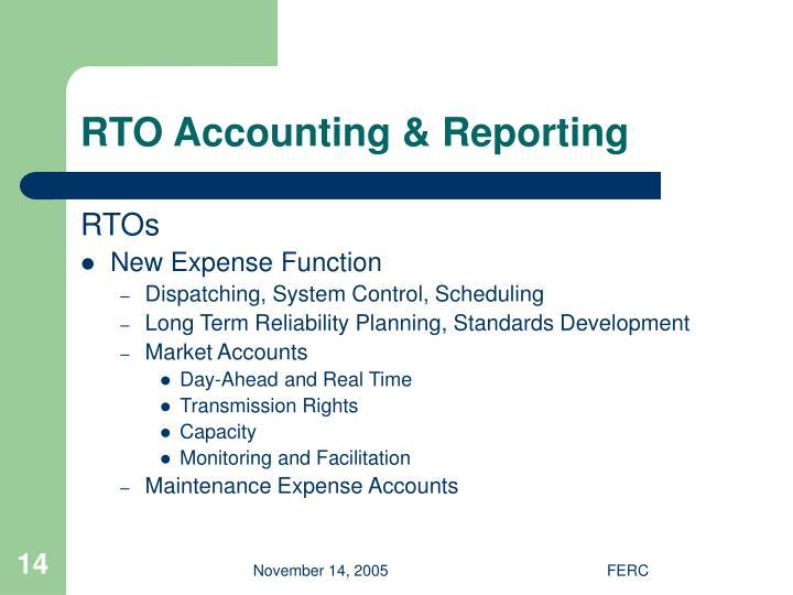 RTO Accounting & Reporting