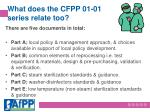 what does the cfpp 01 01 series relate too