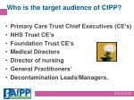 who is the target audience of cfpp