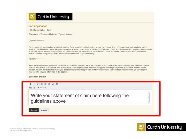 Write your statement of claim here following the guidelines above
