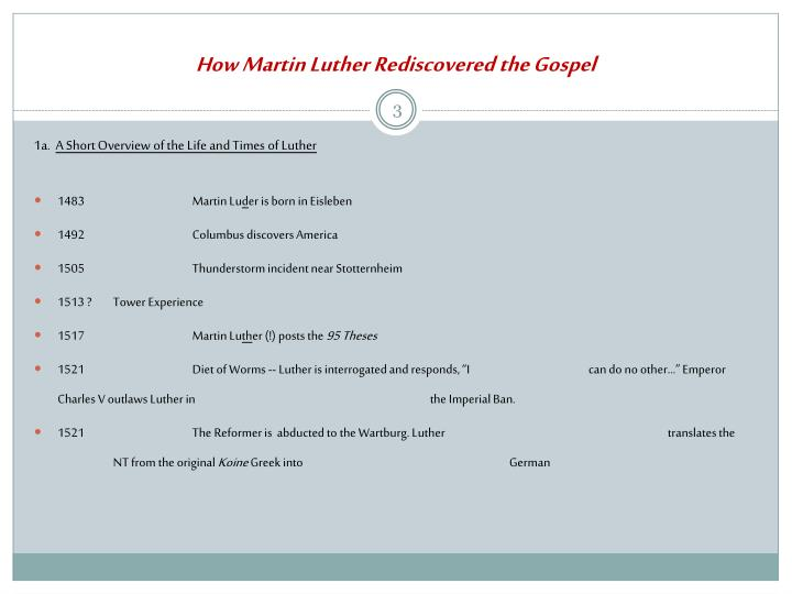 How martin luther rediscovered the gospel2