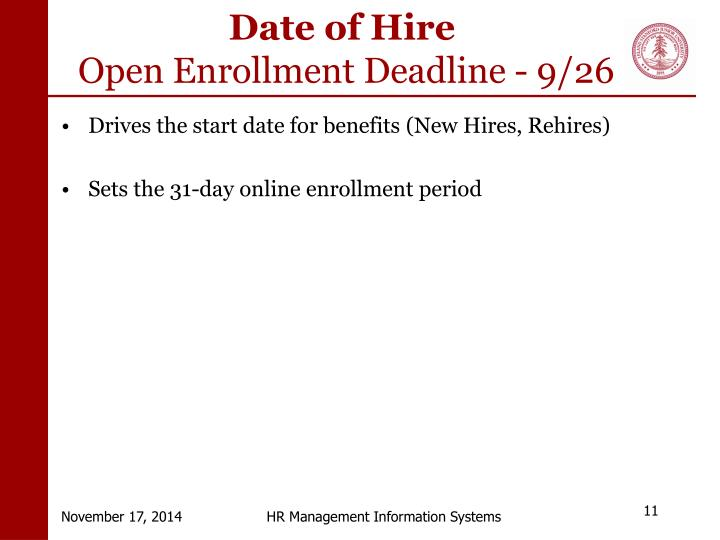 Date of Hire