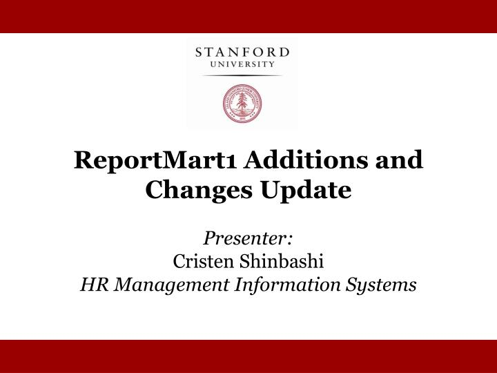 ReportMart1 Additions and