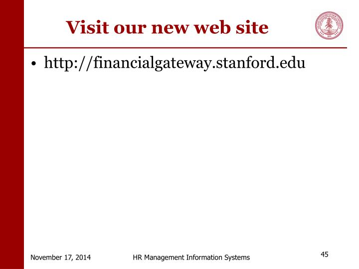 Visit our new web site