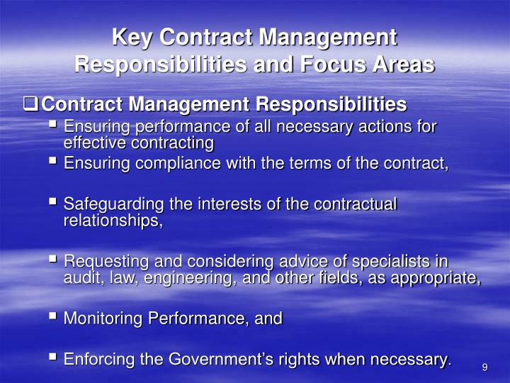 Key Contract Management